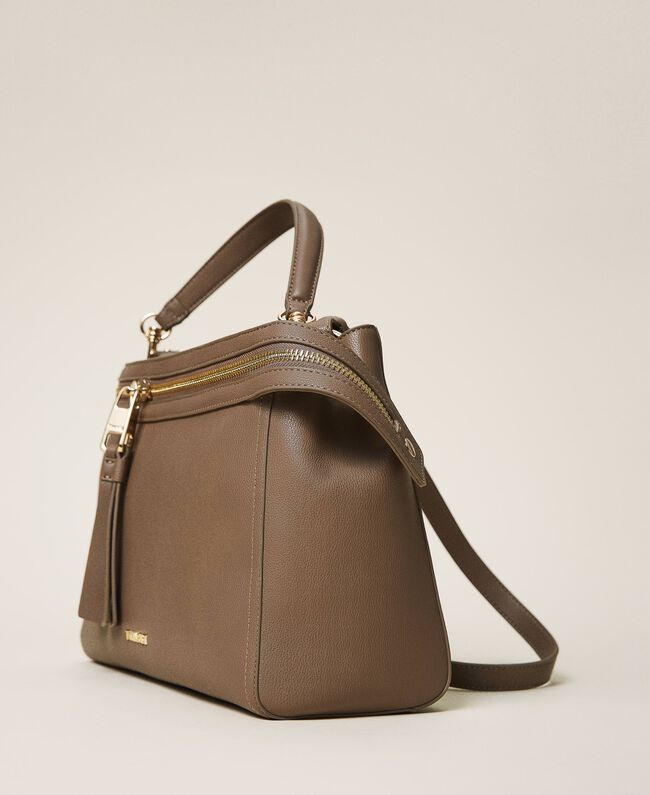 SHOPPING ON LINE TWINSET MILANO BORSA NEW CECILE GRANDE IN SIMILPELLE NEW COLLECTION WOMEN'S FALL WINTER 2020/2021