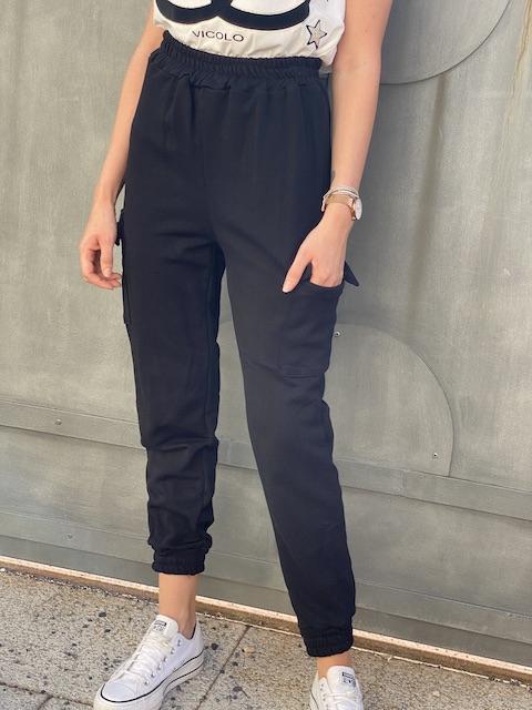 Pantaloni in Felpa Con tasche Laterali