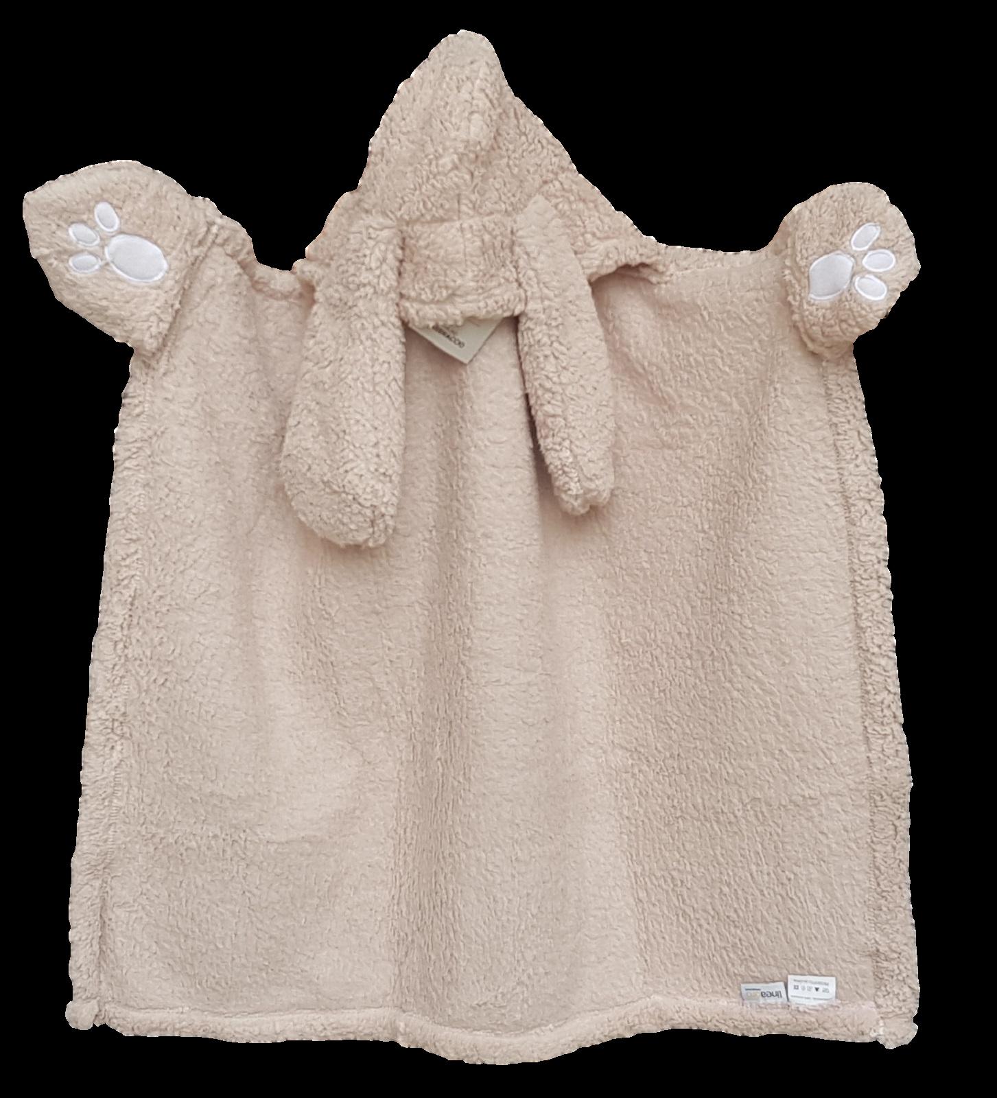 LINEA ORO ABBRACCIO. Plaid da indossare bimbi, bambini 90 x 70 cm. micropelliccia