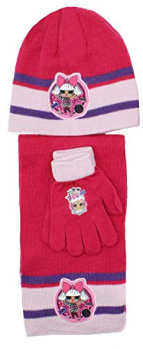 Cappello Sciarpa e guanti L.o.L. Surprise veste dai 5 ai 8 anni