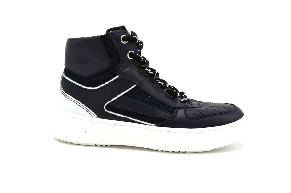 Sneaker ragazzo pelle e tessuto
