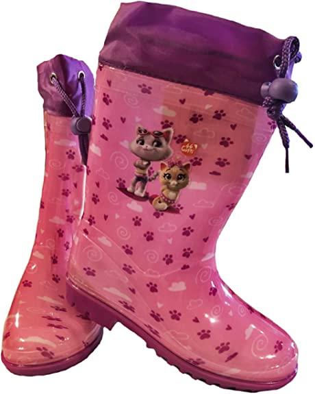 Stivali Pioggia dal 23 al 34 44 Gatti Bambina Autunno Inverno