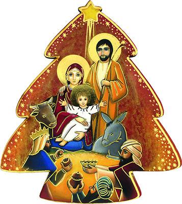 Immagine in pvc alberello Natività