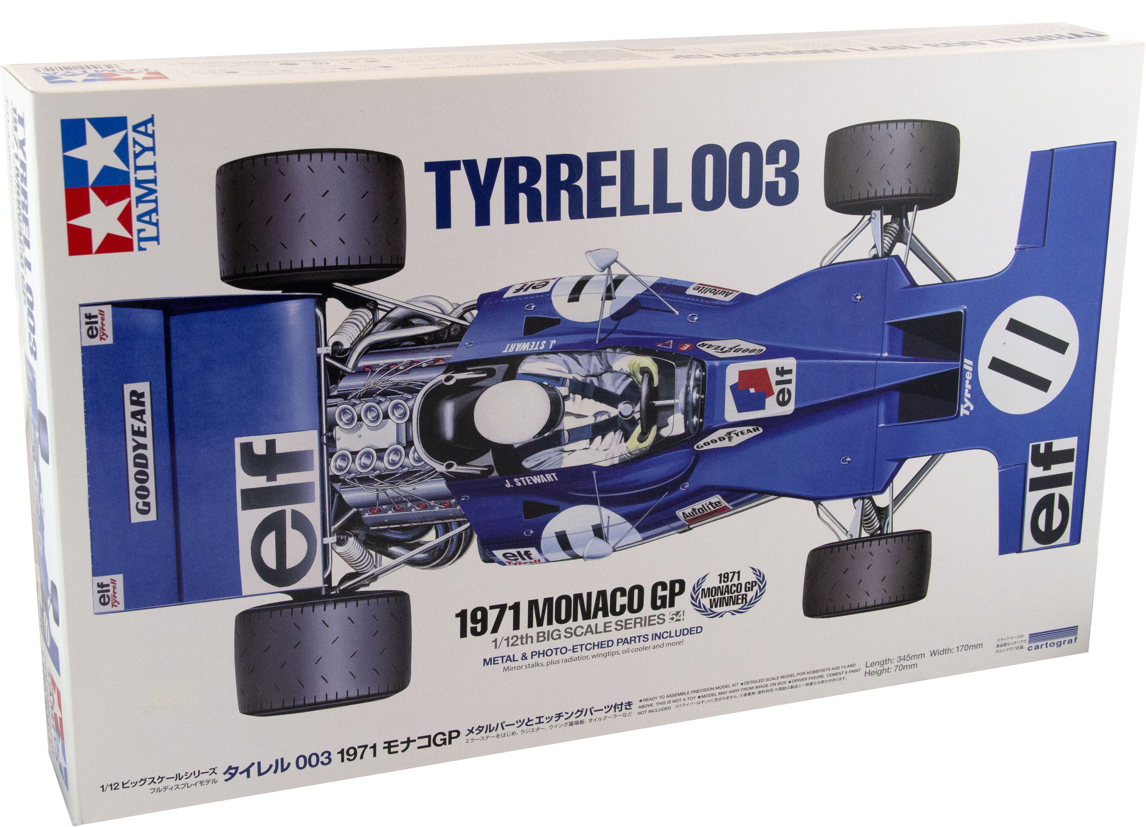Kit Tyrrell 003 1971 Monaco Gp 1/12