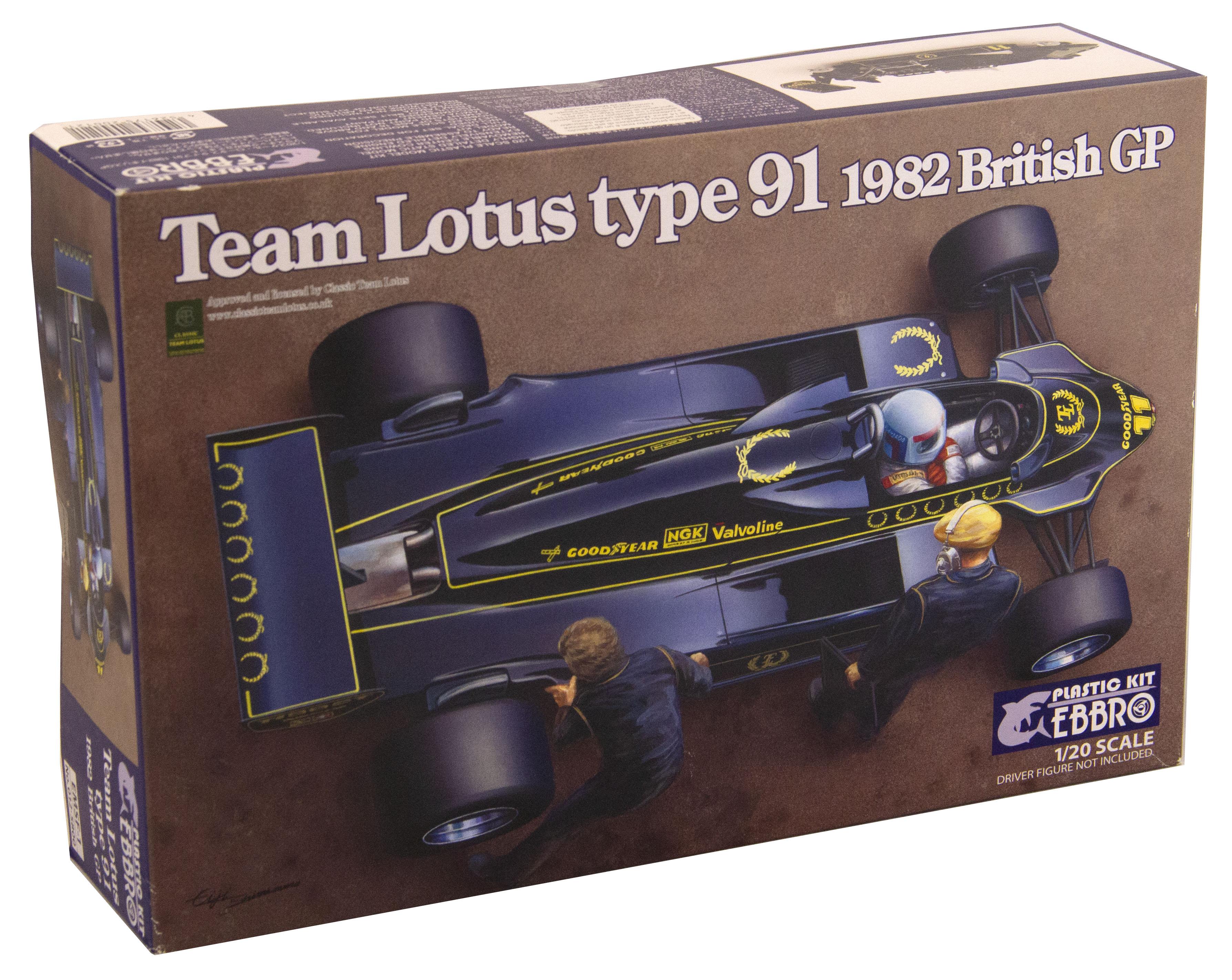 Kit Auto F1 Lotus Type 91 1982 British Gp 1/20