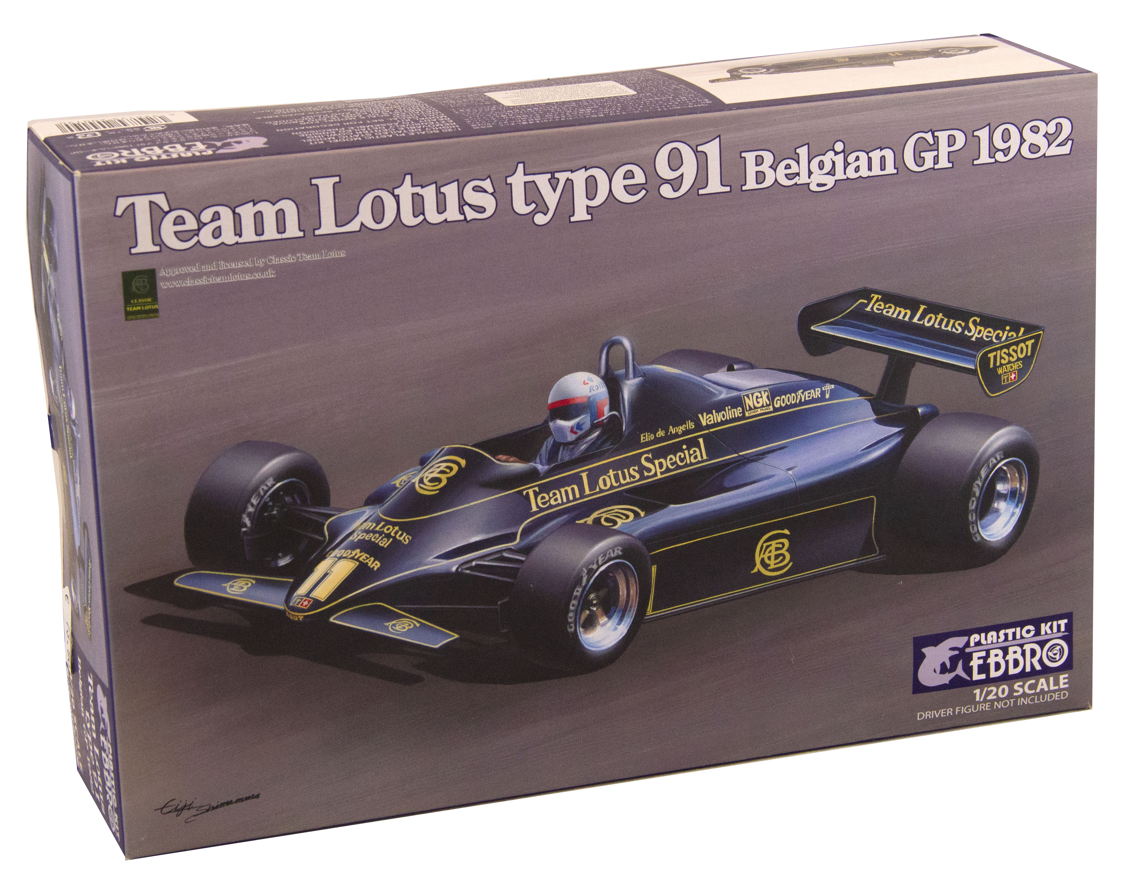 Kit Team Lotus Type 91 Belgian Gp 1982 1/20
