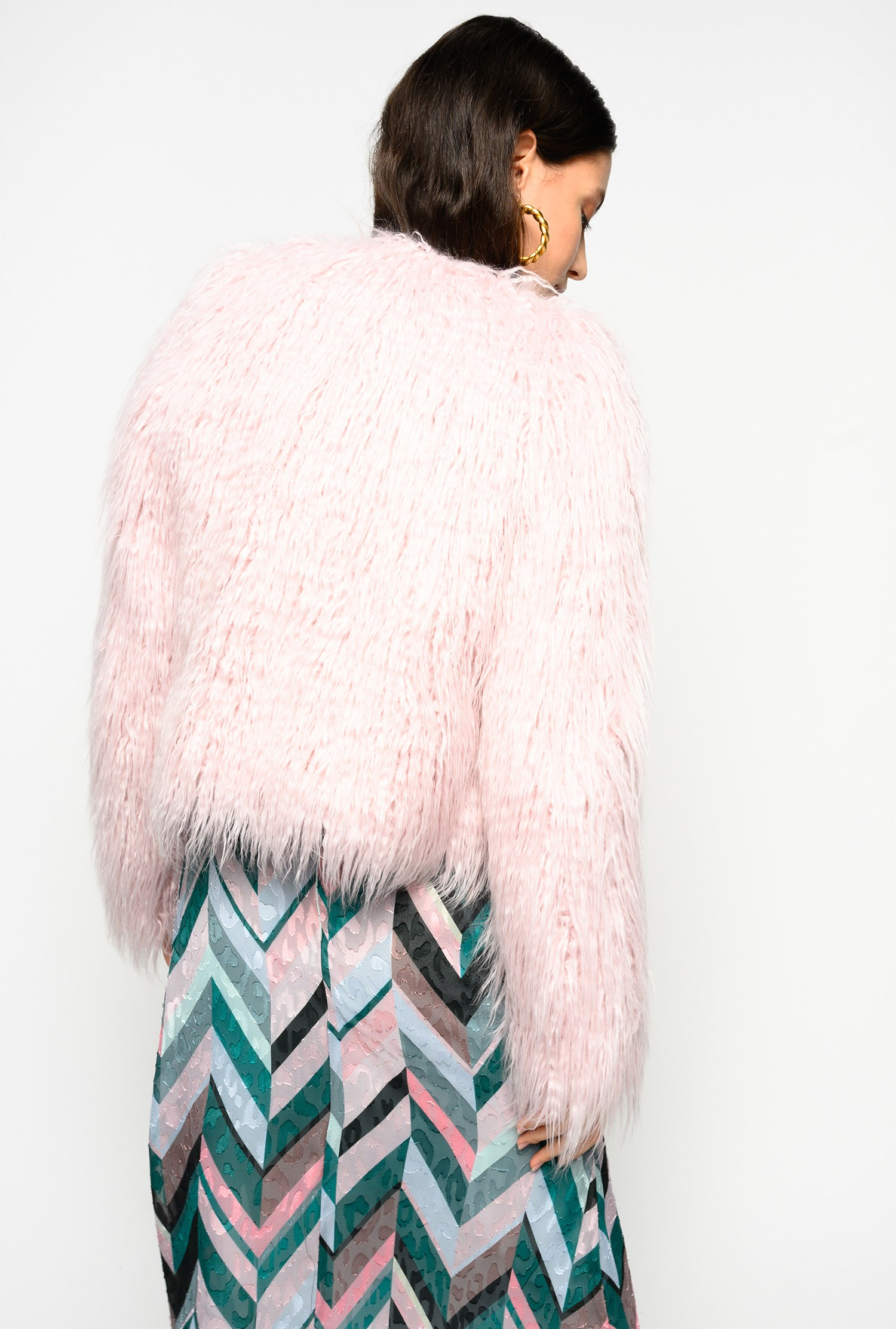 SHOPPING ON LINE PINKO GIACCA BOXY FAUX FUR EFFETTO MONGOLIA GIORNO BOXY NEW COLLECTION WOMEN'S FALL WINTER 2020/2021