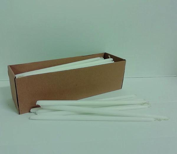 Candelini bianchi non gocciolanti cm. 24 (100 pz.)