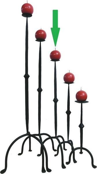 Candeliere in ferro cm. 83