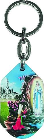 Portachiavi sagomato Lourdes