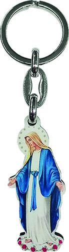 Portachiavi sagomato Madonna Miracolosa