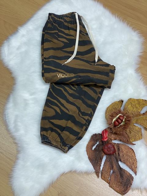 Pantaloni in felpa fantasia zebrata Vicolo