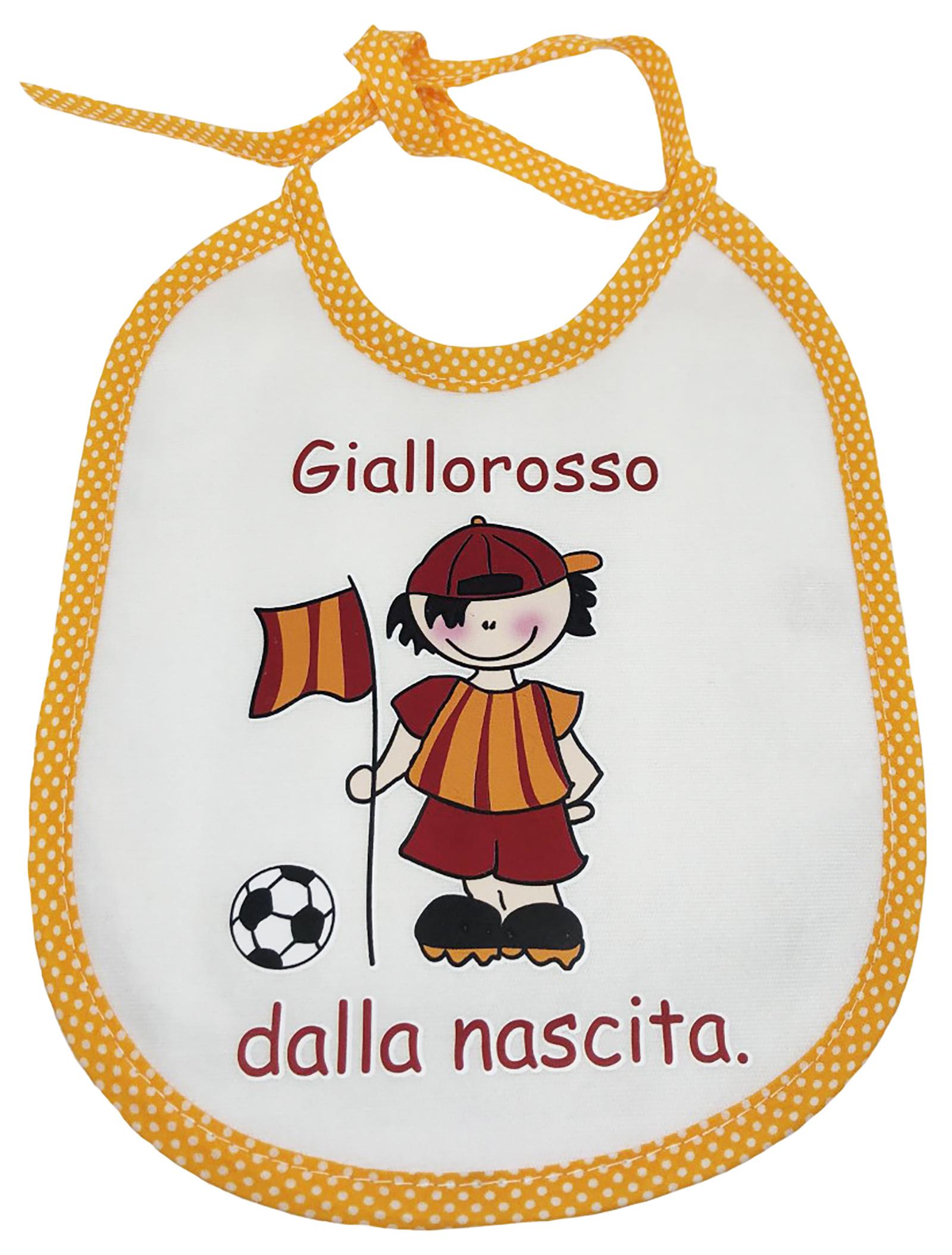 Bavaglini con scritte simpatiche bimbo bimba AS Roma