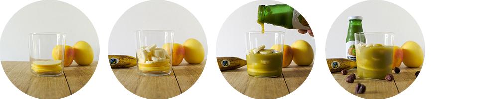 Preparazione frullato mela, banana, nocciole e Kiwiny Smoothie Pure