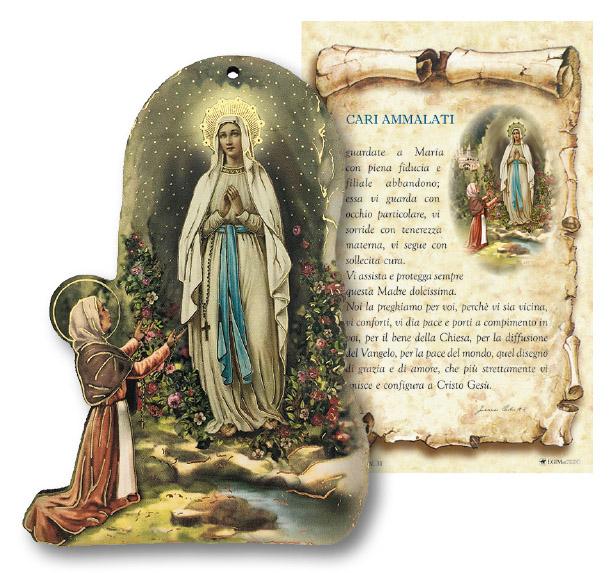 Tavoletta Madonna di Lourdes con