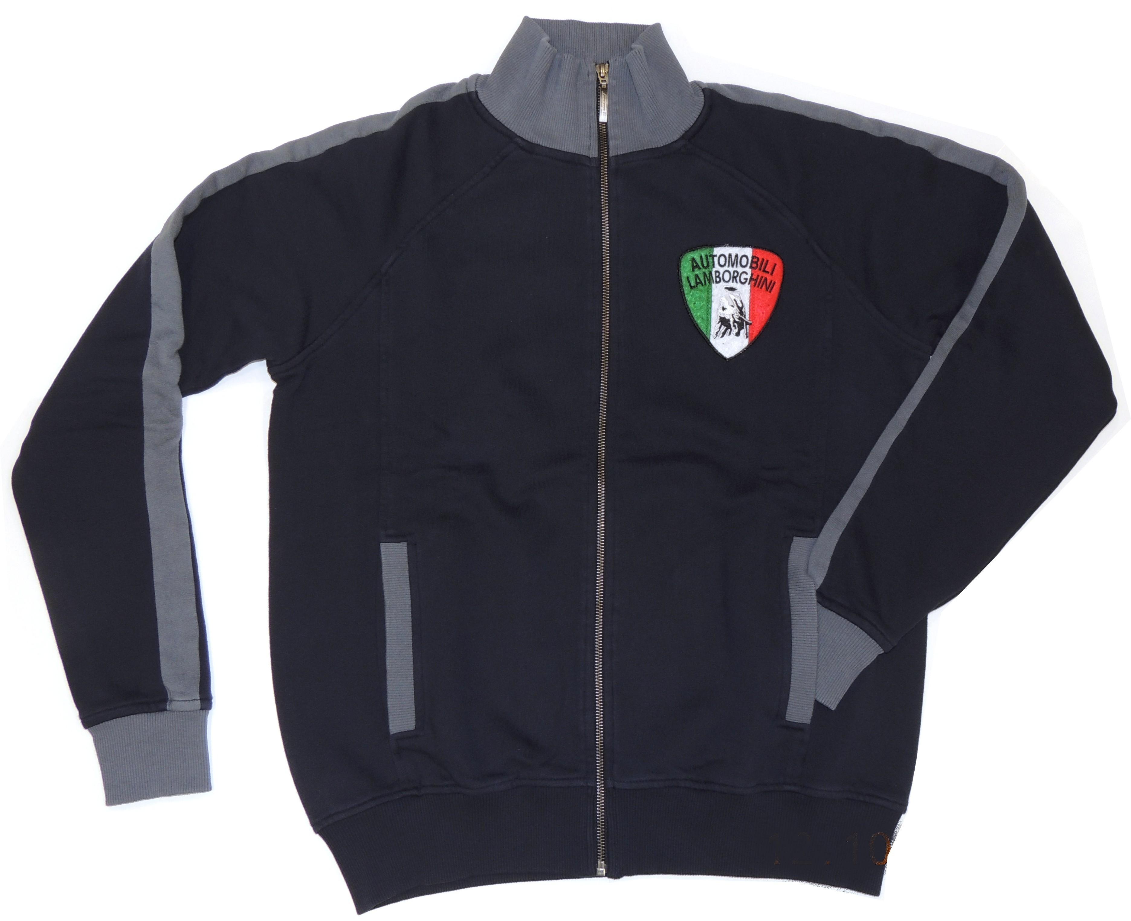 Lamborghini Men Sleeve Zip Up Sweatshirt Navy/Grey