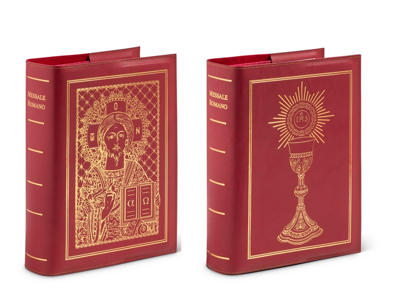 Coprilibro in cuoio rigenerato per la nuova edizione del Messale
