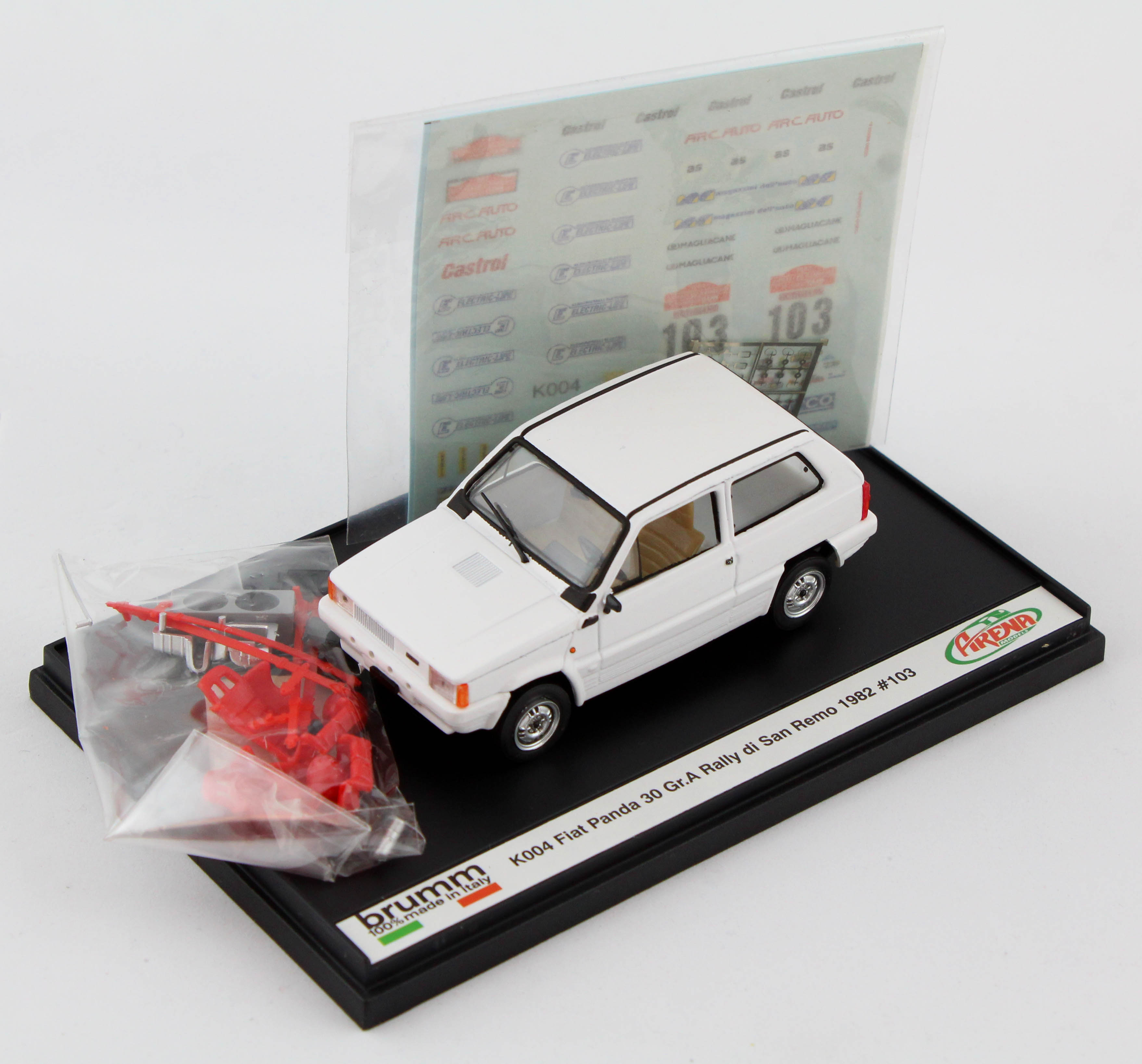 Fiat Panda 30gr.a Rally San Remo 1982 1/43 Brumm 100% Made In Italy