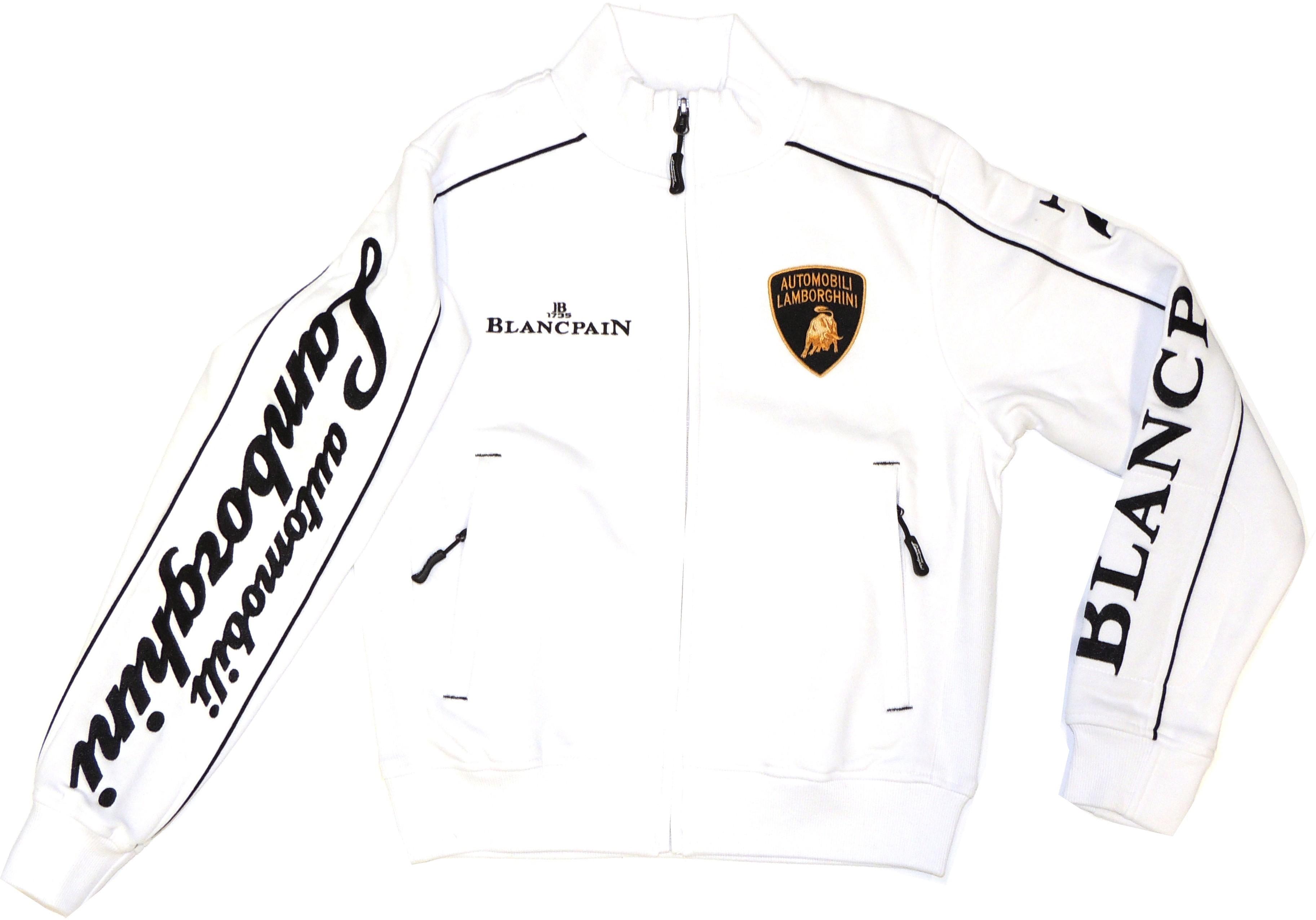 Lamborghini ST Ladies Zip Up Sweatshirt White/Black