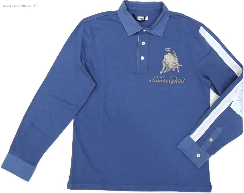 Men's Ls Contrast Stripe Jersey Polo Delft