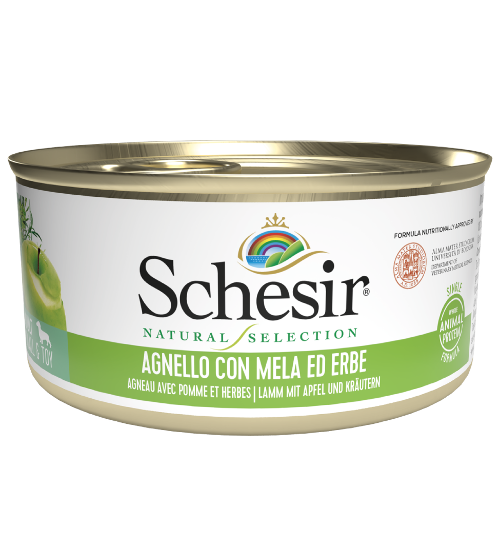 Schesir Dog - Natural Selection - Adult - Small&Toy - 95g x 6 lattine