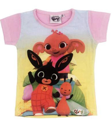 T-shirt Bing Bambina 4 5 6 anni Rosa e Turchese