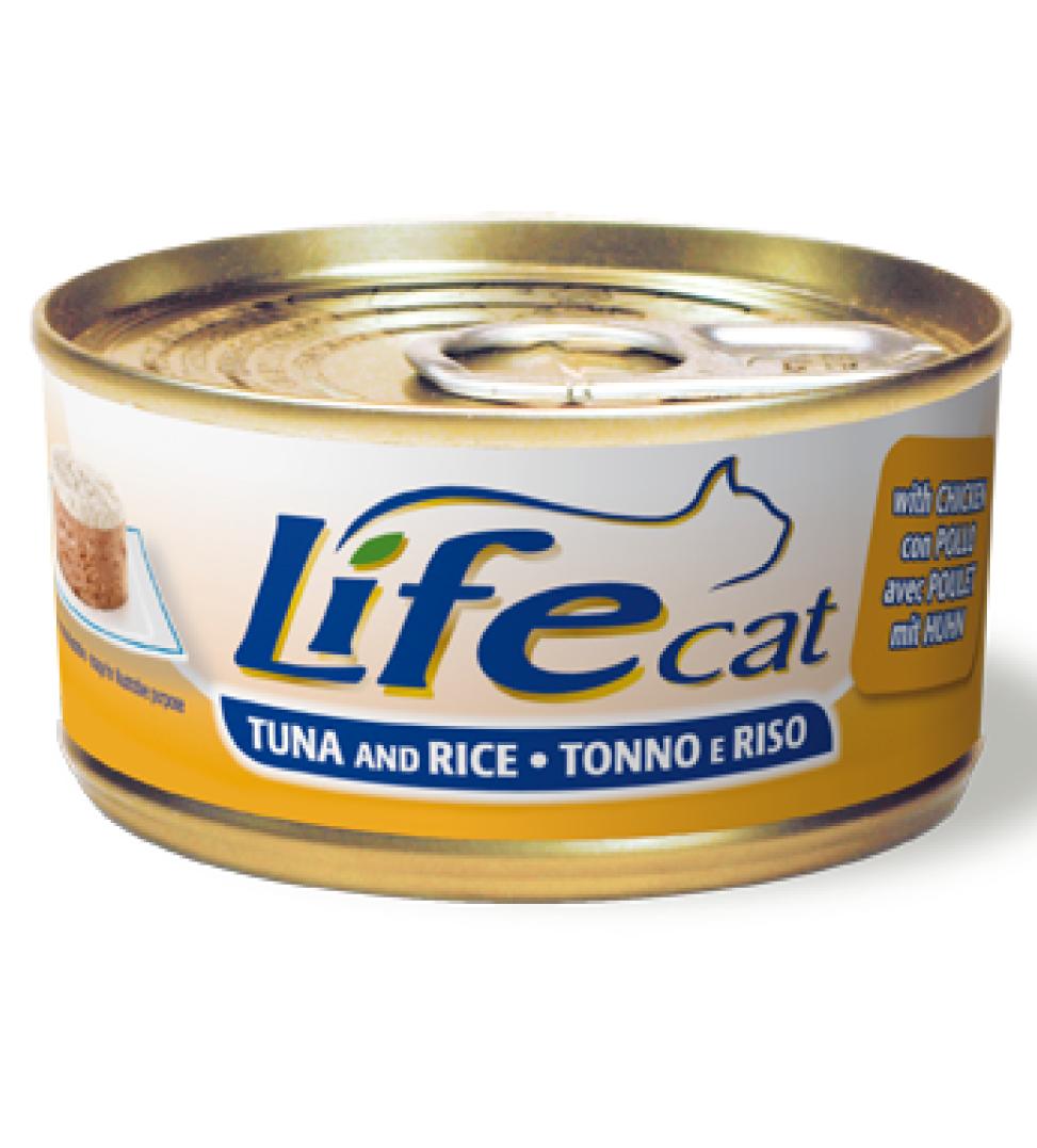 Life Cat - Tonno & Riso - 170g x 6 lattine