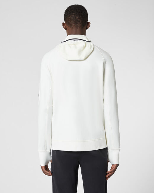 SHOPPING ON LINE CP COMPANY DIAGONAL RAISED FLEECE FULL ZIP LENS HOODIE NEW COLLECTION MEN FALL WINTER 2020/2021