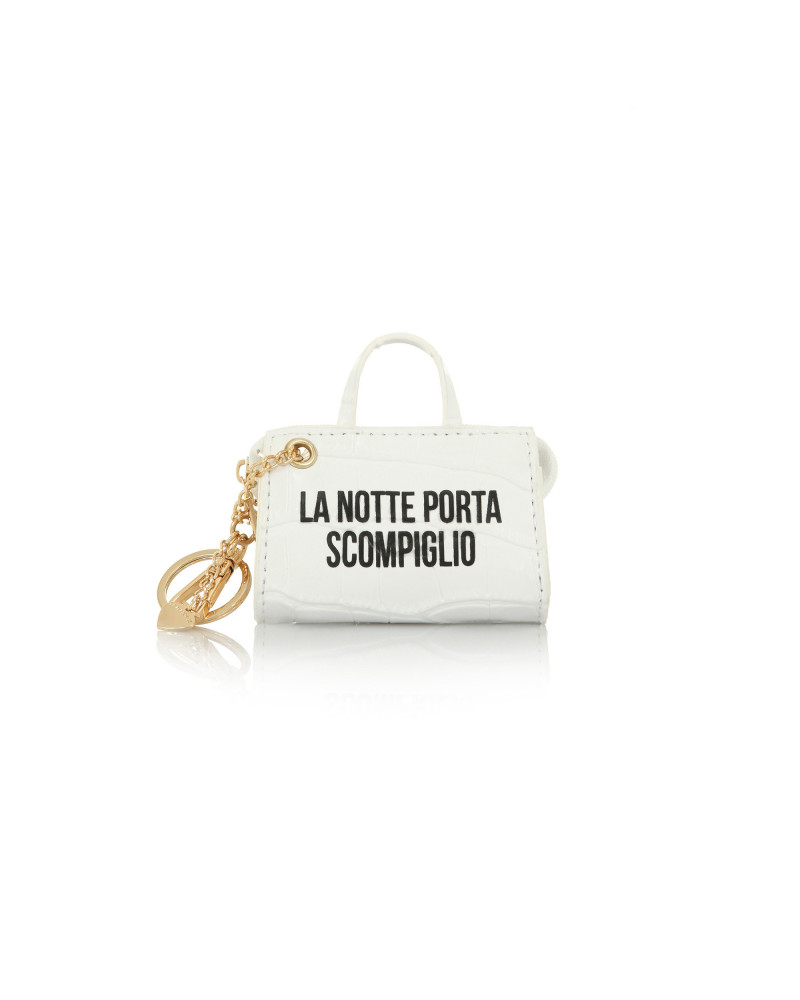SHOPPING ON LINE LE PANDORINE TAG MINI BAG NOTTE WHITE NEW COLLECTION WOMEN'S FALL WINTER 2020/2021