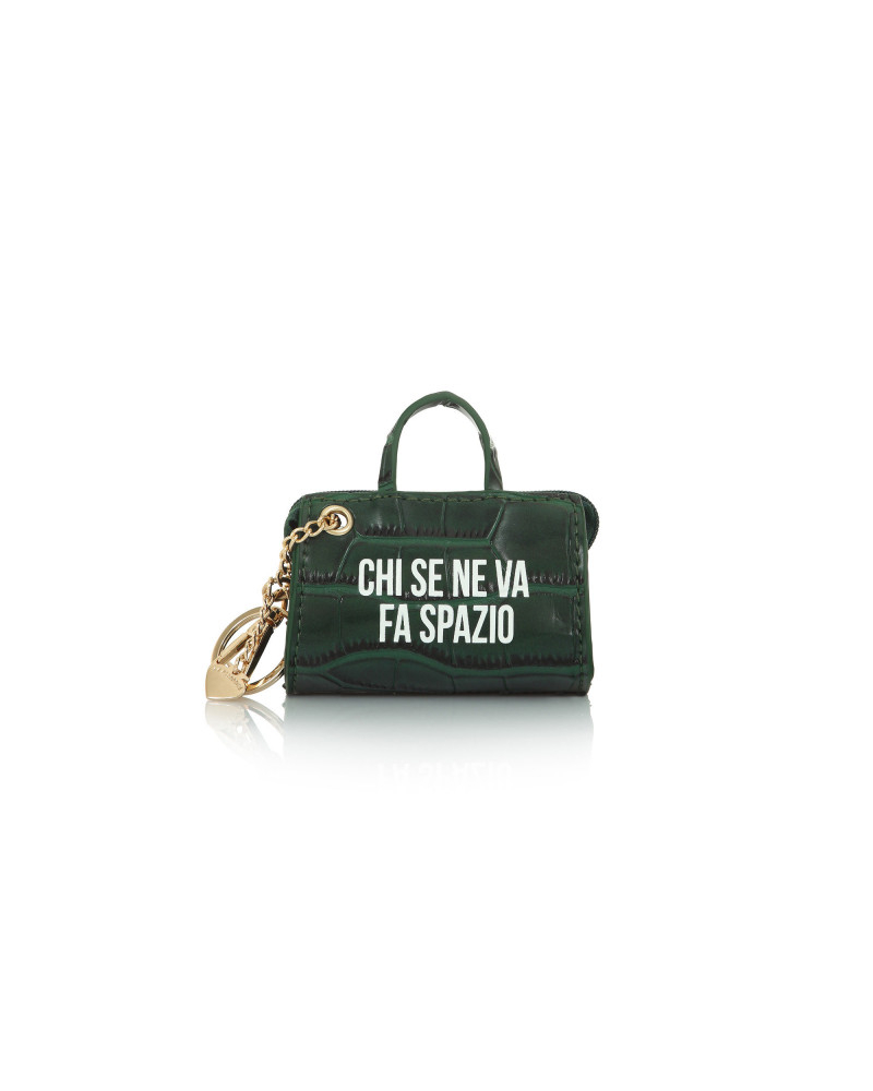 SHOPPING ON LINE LE PANDORINE TAG MINI BAG SPAZIO GREEN NEW COLLECTION WOMEN'S FALL WINTER 2020/2021
