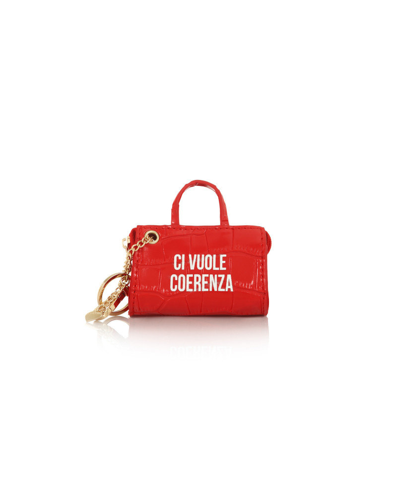 SHOPPING ON LINE LE PANDORINE TAG MINI BAG COERENZA RED NEW COLLECTION WOMEN'S FALL WINTER 2020/2021