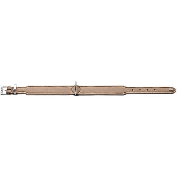 Hunter - Collare Basic in crosta di pelle rivestita 37/XS-S