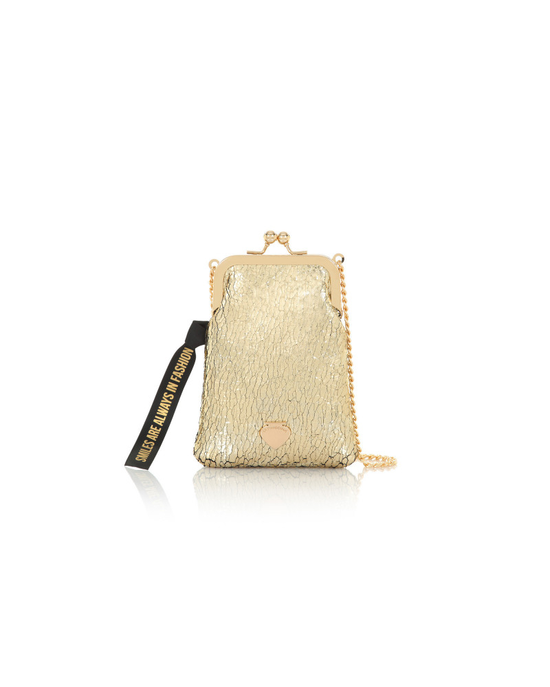 SHOPPING ON LINE LE PANDORINE PHONE BAG FASHION GOLD NEW COLLECTION WOMEN'S FALL WINTER 2020/2021