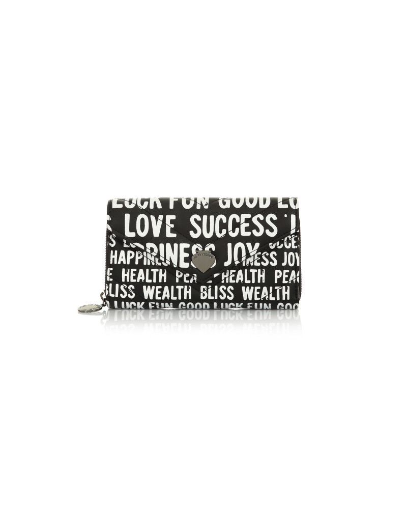 SHOPPING ON LINE LE PANDORINE PORTAFOGLIO WALLET HAPPINES BLACK NEW COLLECTION WOMEN'S FALL WINTER 2020/2021