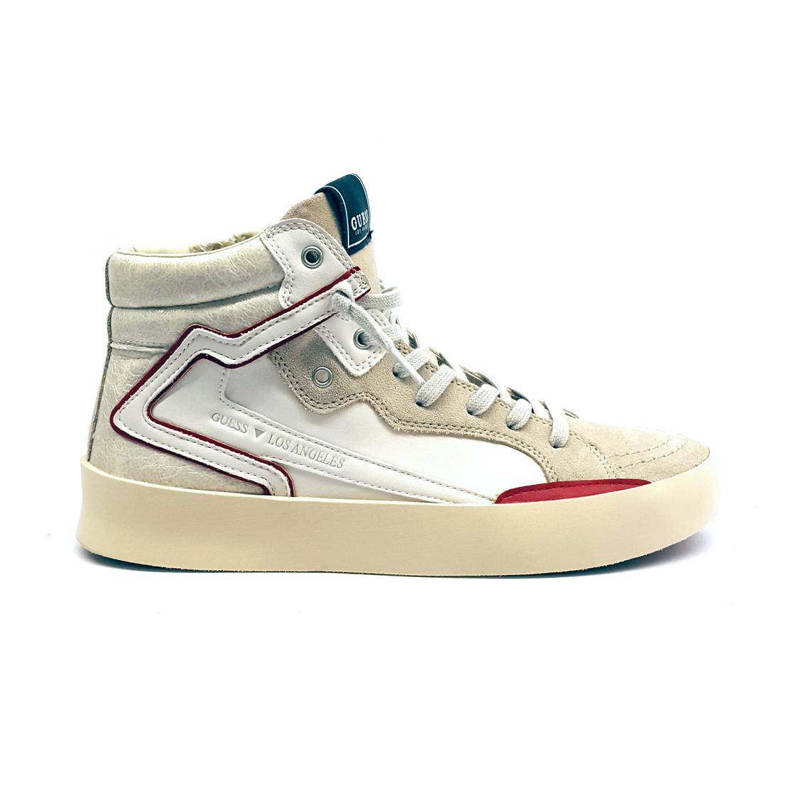 Sneaker alta bianco sporco Guess