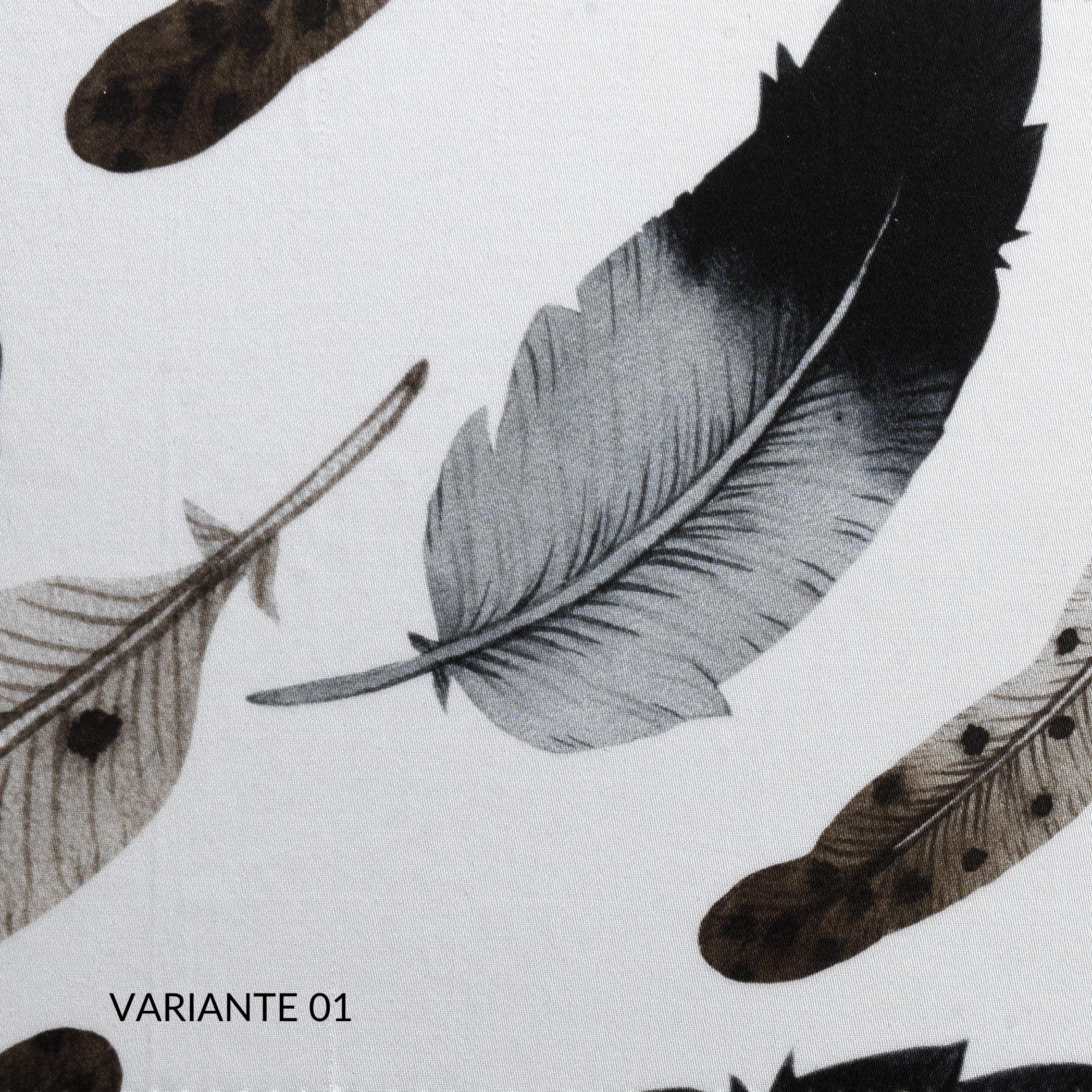 Set Completo Lenzuola Matrimoniale con Fodere per Cuscino 50x80, Decorazione Fantasia, Morbido 100% Raso Puro Cotone Naturale, Tessuto Anallergico | PLUMES