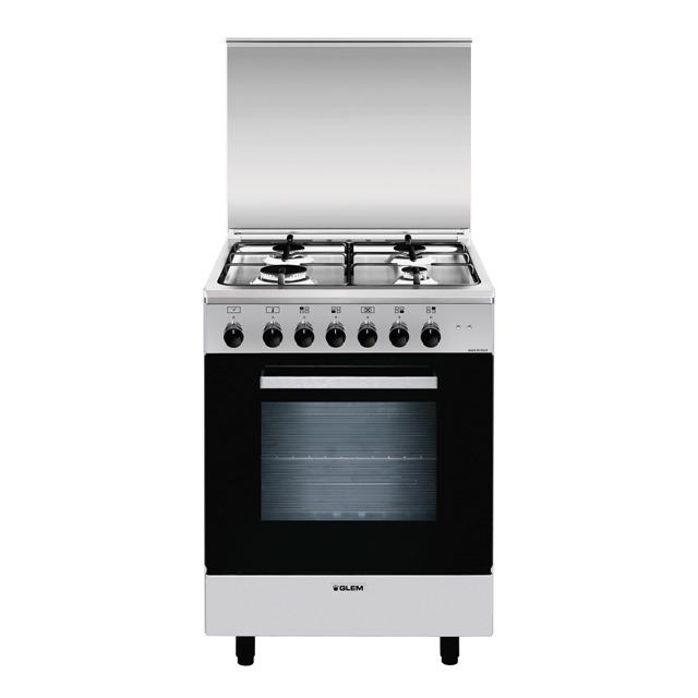 Glem A654MI6 cucina Piano cottura Acciaio inossidabile Gas A