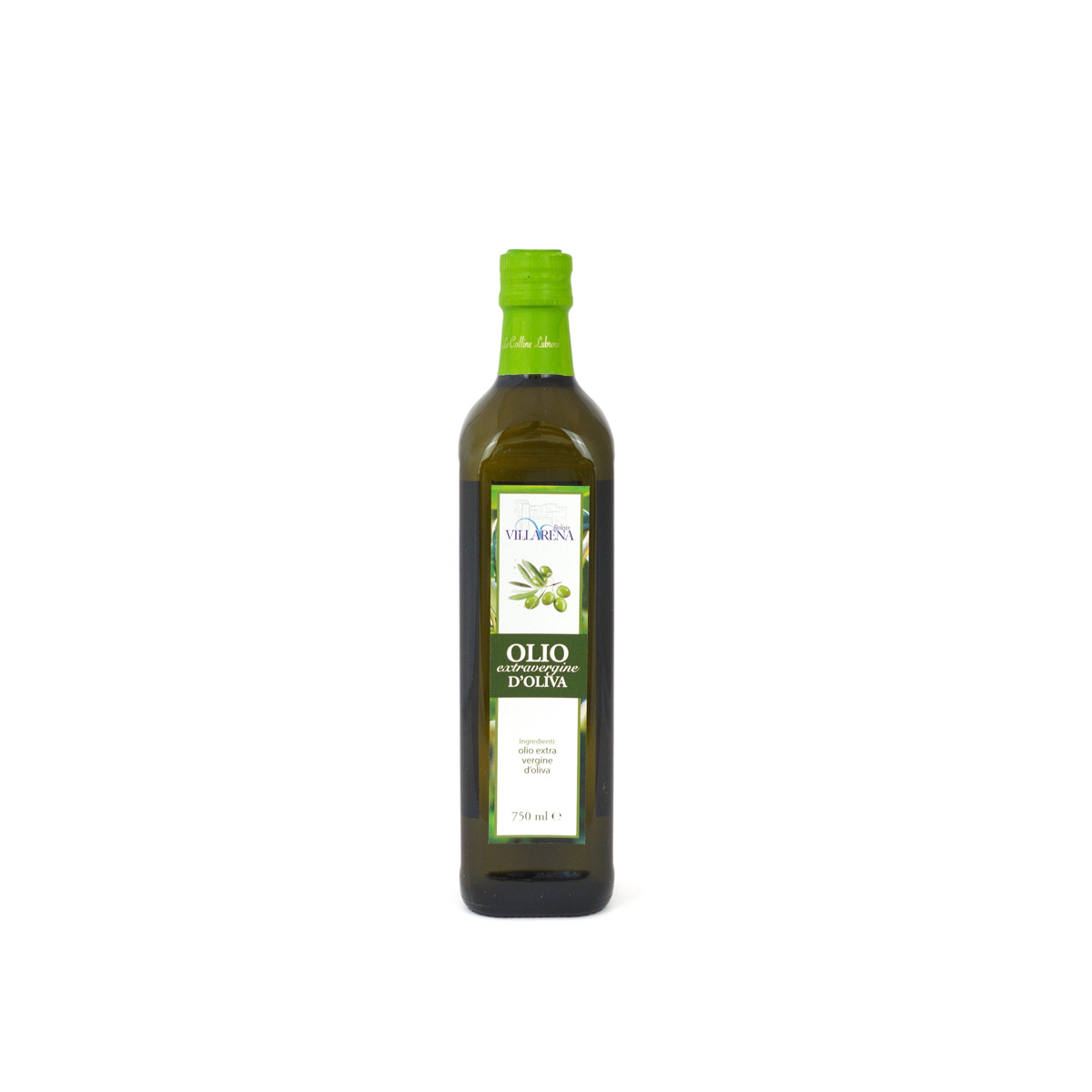 Extra virgin olive oil in bottle