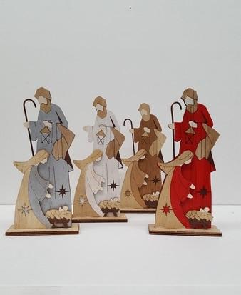 Natività presepio in legno