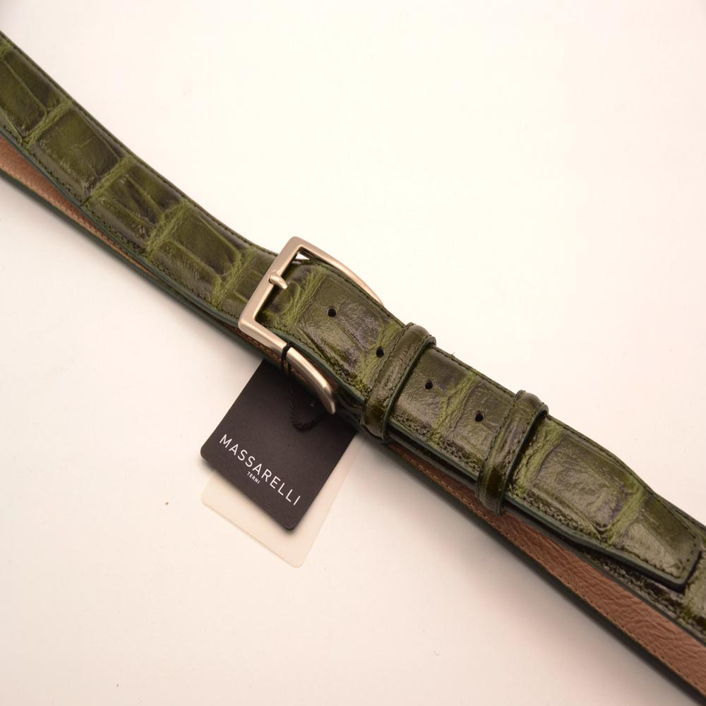 F. Massarelli -Terni- Cintura Uomo Cocco/Verde C1010