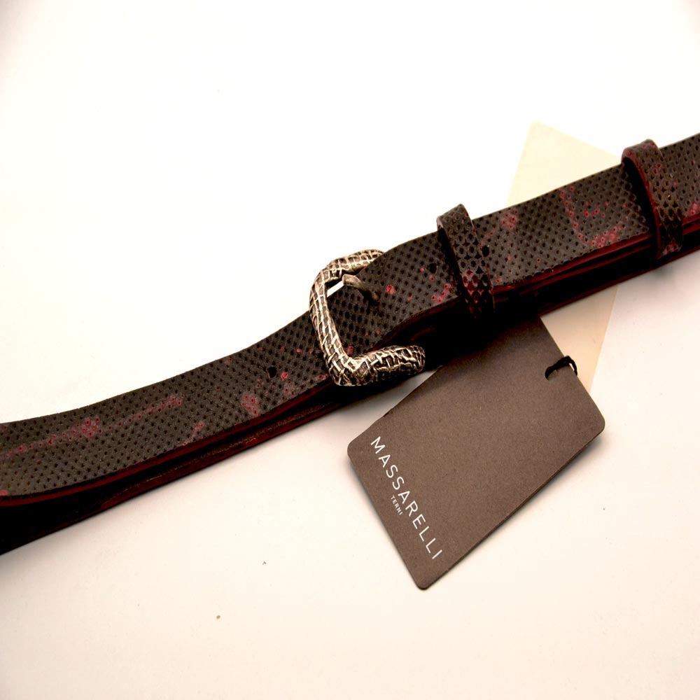 F. Massarelli -Terni- Cintura Uomo Cuoio H.M./Red C001