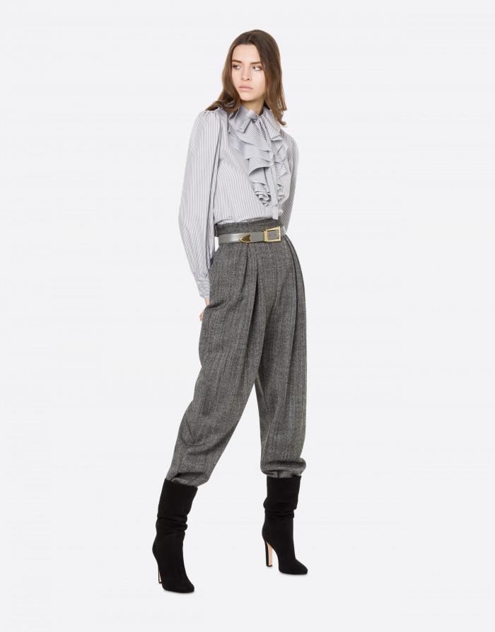 Pantalone in lana sale e pepe alberta ferretti