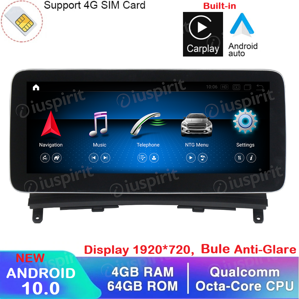 ANDROID navigatore per Mercedes Classe C W204 2008-2010 NTG 4.0 10.25 pollici 4GB RAM 64GB ROM Octa-Core Car Play Android Auto Bluetooth GPS WI-FI