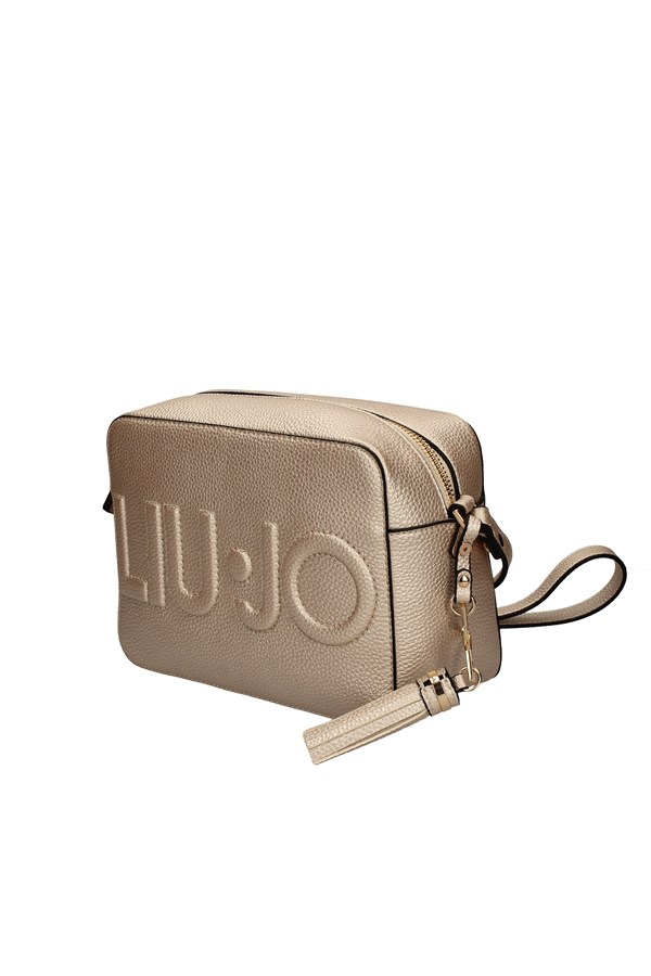 Borsa a tracolla logo light gold LIU JO