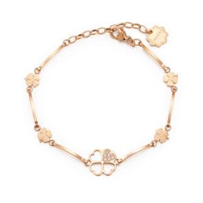 Bracciale Brosway CHAKRA Quadrifoglio oro rosa