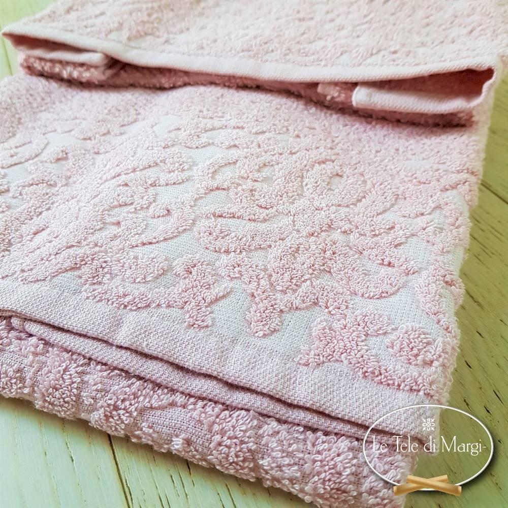 Coppia asciugamani Arabesque Rosa