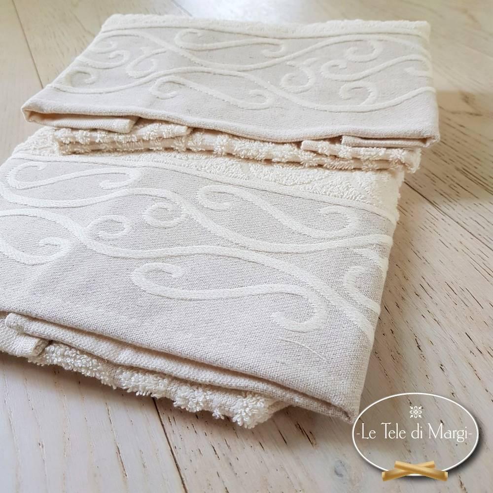 Coppia asciugamani Egitto panna