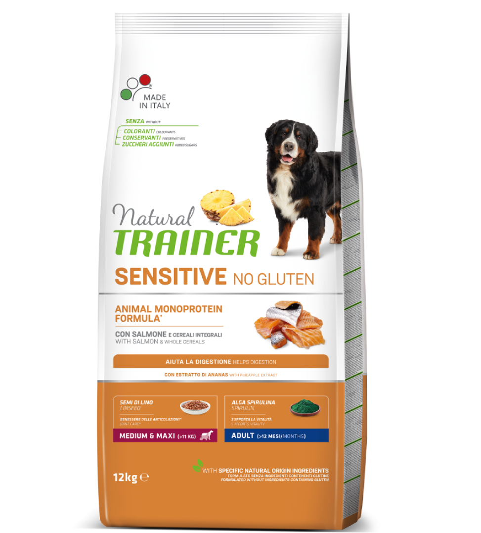 Trainer Natural Sensitive - Medium/Maxi - Adult - 12 kg x 2 sacchi