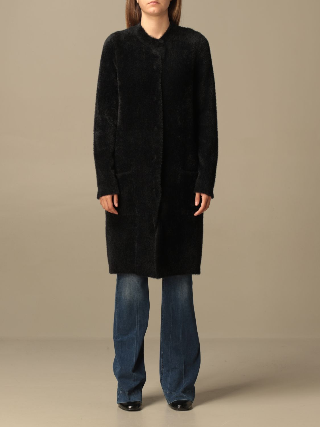 SHOPPING ON LINE TWINSET MILANO CAPPOTTO IN MAGLIA  NEW COLLECTION WOMEN'S FALL WINTER 2020/2021