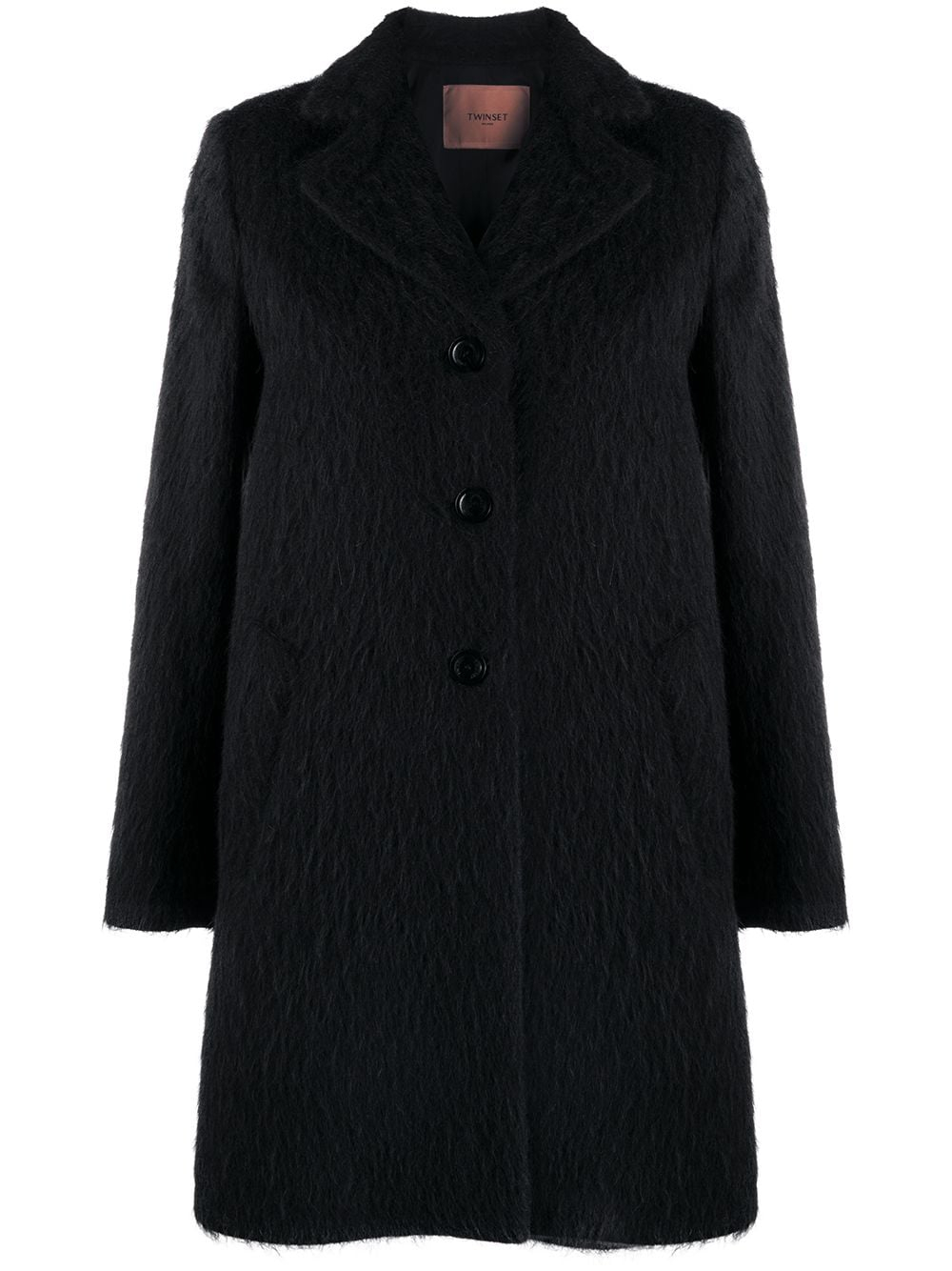SHOPPING ON LINE TWINSET MILANO CAPPOTTO IN PANNO SPAZZOLATO NEW COLLECTION WOMEN'S FALL WINTER 2020/2021
